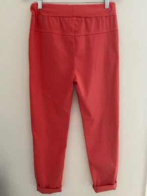 Magic Stretch Joggers in Coral