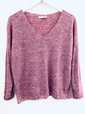 Fine Knit Sweater in Heather