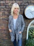 Tweed Look Cardi with Pockets