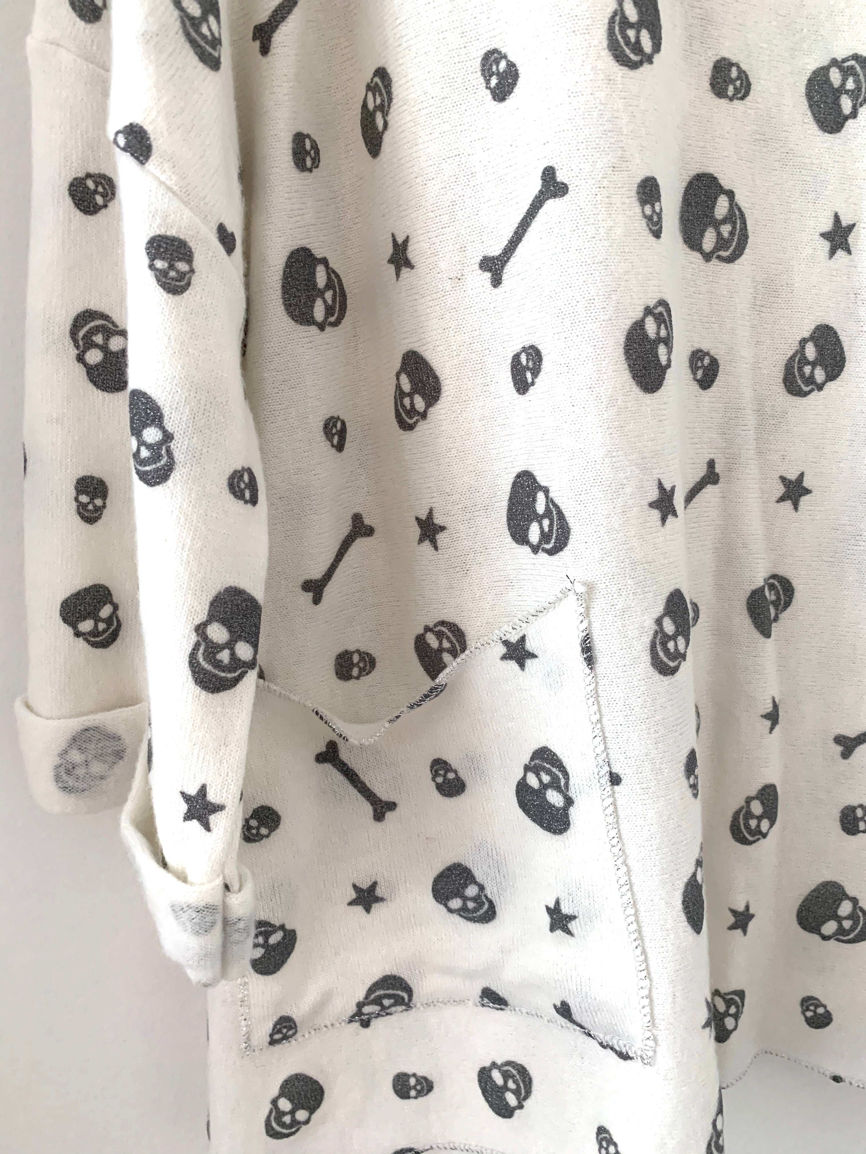 Glitter Skull and Star Top