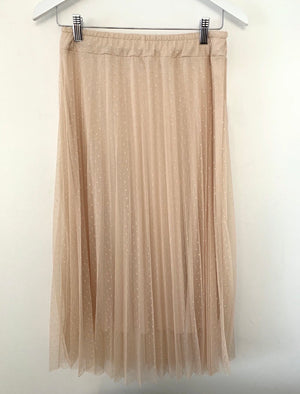 Tulle Polkadot Skirt in Blush