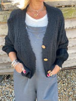 Cable Cardi in Black