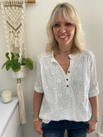 Lace Blouse in White
