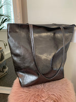 Pewter Leather Bag
