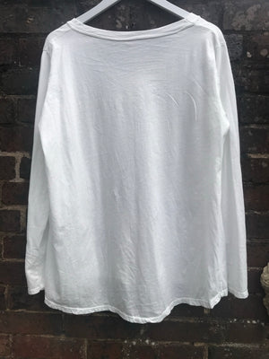 Long Sleeve Star Tee in White
