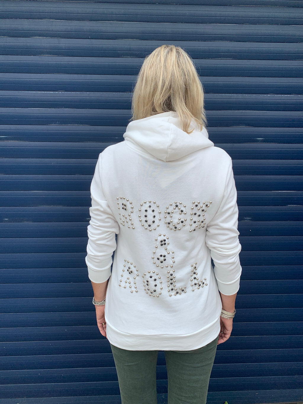 Rock & Roll Hoodie in Soft White