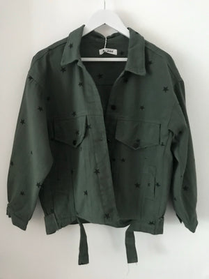 Green Jacket with Stars