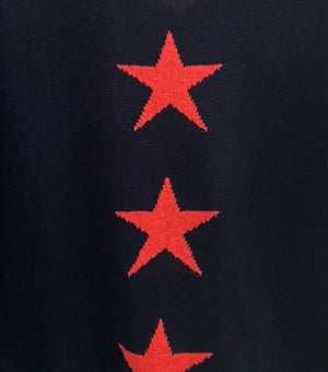 Navy Jumper with Four Bright Stars