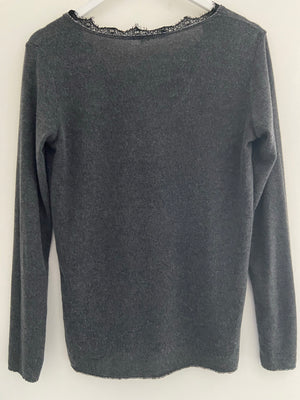 Soft Lightweight Jumper in Charcoal