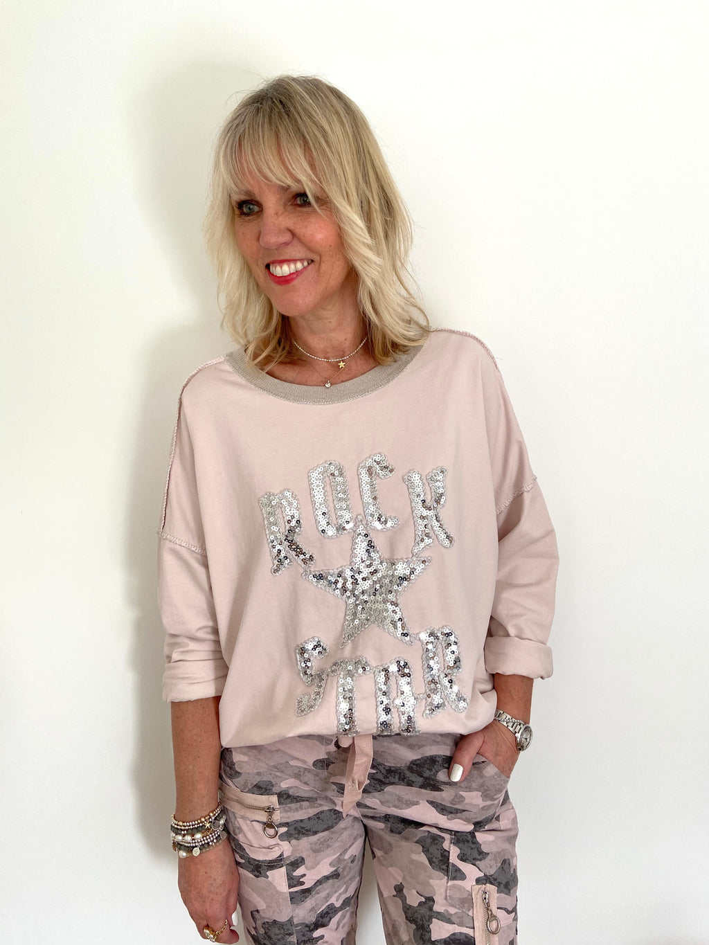 Rock Star Top in Pink