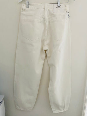 Slouchy Jeans in Winter White