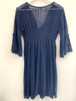 Lace V Neck Dress in Five Colourways
