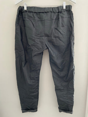 Magic Stretch Rivet Joggers in Waxed Charcoal