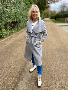 Wrap Coat in Grey