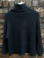Soft Roll Neck Jumper in Black