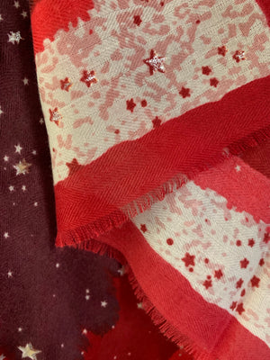 Red Celestial Scarf