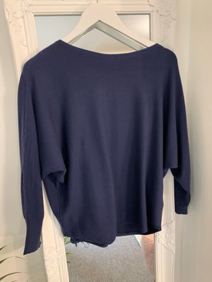 Navy Batwing Jumper