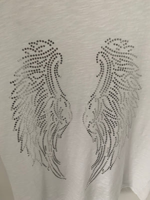 White Tee with Wings
