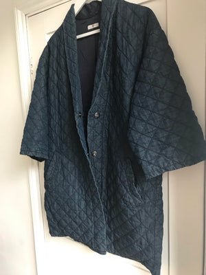 Indigo Cotton Quilted Jacket