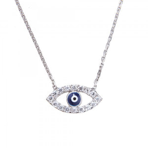 Sterling Silver Evil Eye Necklace by Lucky Eyes London