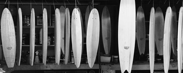 Boards hanging to dry