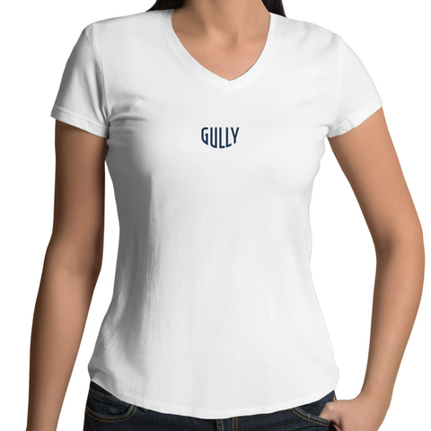 Gully Womens V-Neck tee