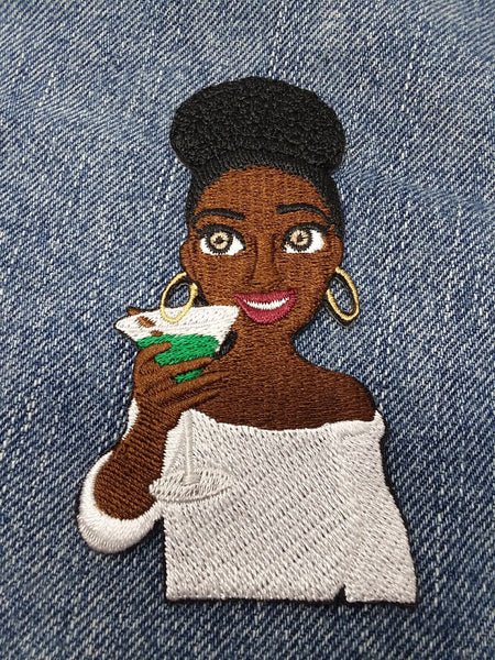 """A Toast To Sistahood"" Patch"