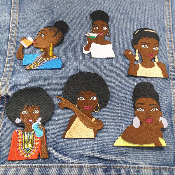 Black Queen Patch Set