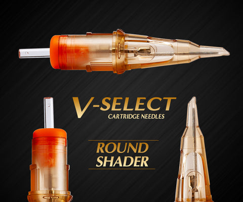 Ez V-Select Round Shader Tattoo Cartridge Needles
