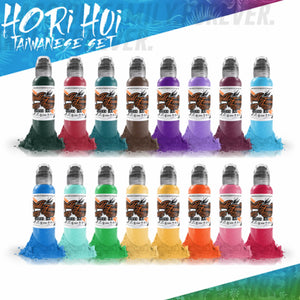 World Famous Ink 16 Color Hori Hoi Taiwanese Set 1oz