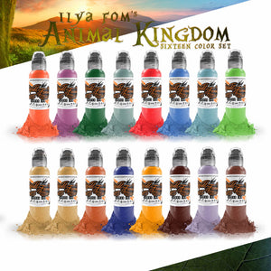 World Famous Ink 16 Color Ilya Fom Animal Kingdom Set 1oz
