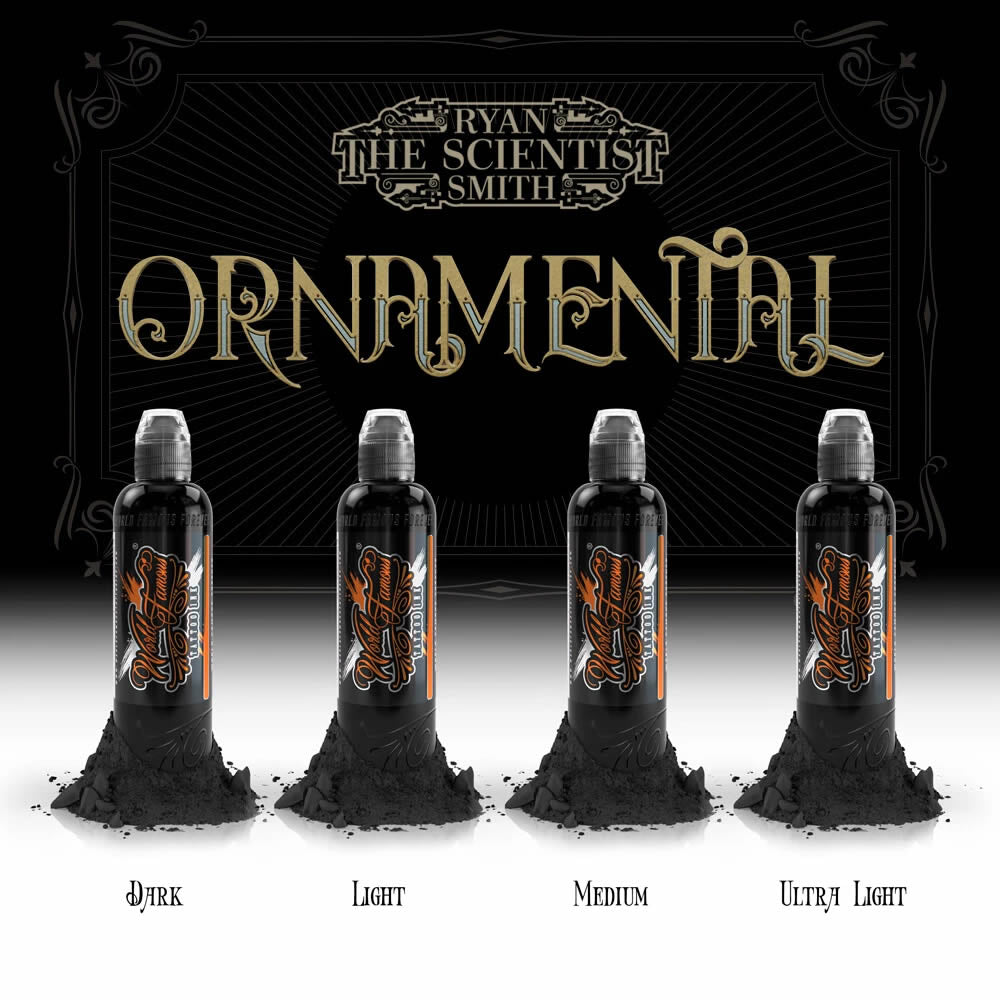 World Famous Ink 4 Bottles Ryan Smith Ornamental Set 1oz