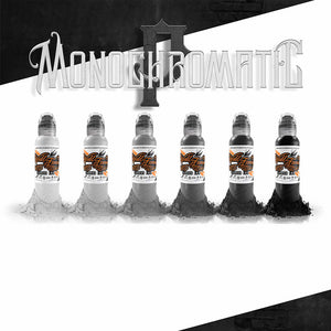 World Famous Ink 6 Bottles Poch Monochromatic Set 1oz