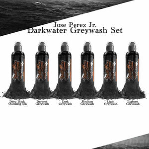 World Famous Ink 6 Bottles Jose Perez Jr. Dark Water Shading Set 4oz