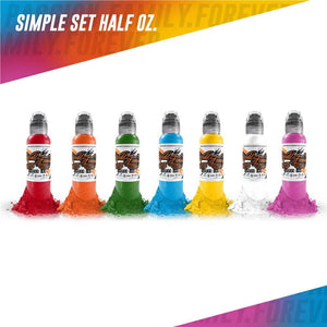 World Famous Ink 7 Bottle Simple Color Set 1/2oz Canada