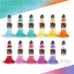World Famous Ink 12 Color Pastel Set 1oz Canada