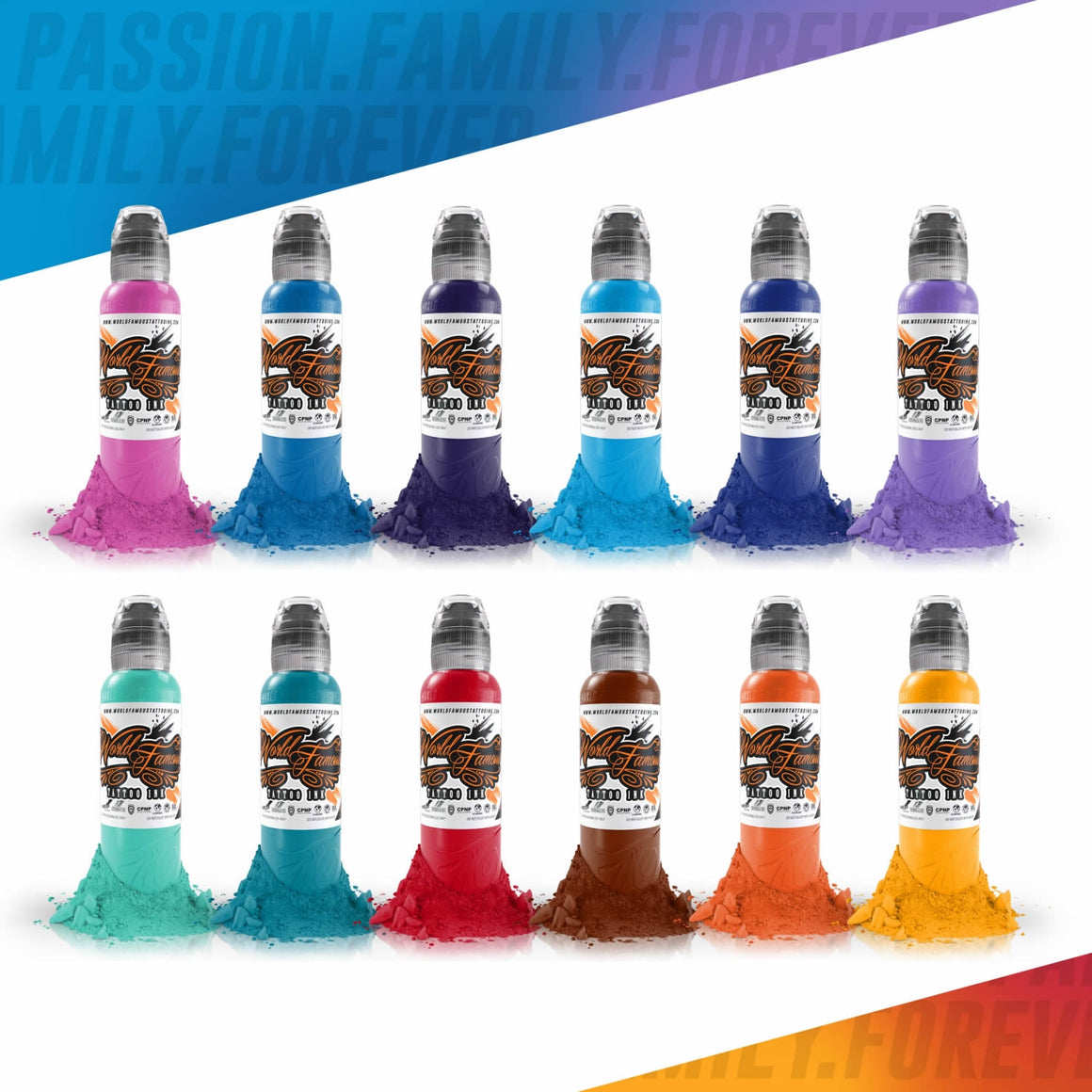 World Famous Ink 12 Color Primary Set #2 1oz