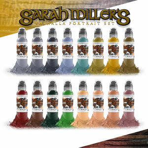 World Famous Ink 16 Color Sarah Miller Valhalla Portrait Set 1oz