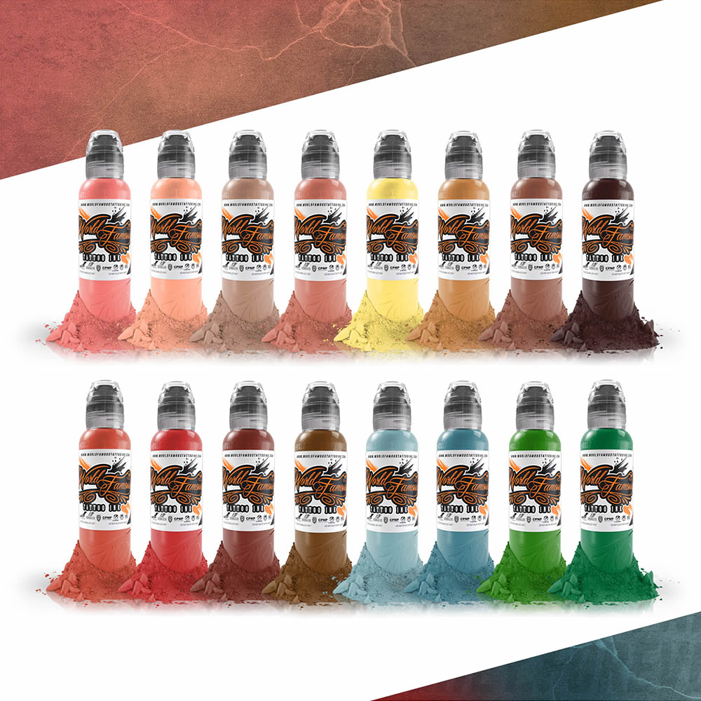 World Famous Ink 16 Color Oleg Shepelenko Realism Set 1oz