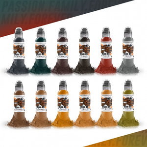 World Famous Ink 12 Bottle Earthtone Set 1oz Canada