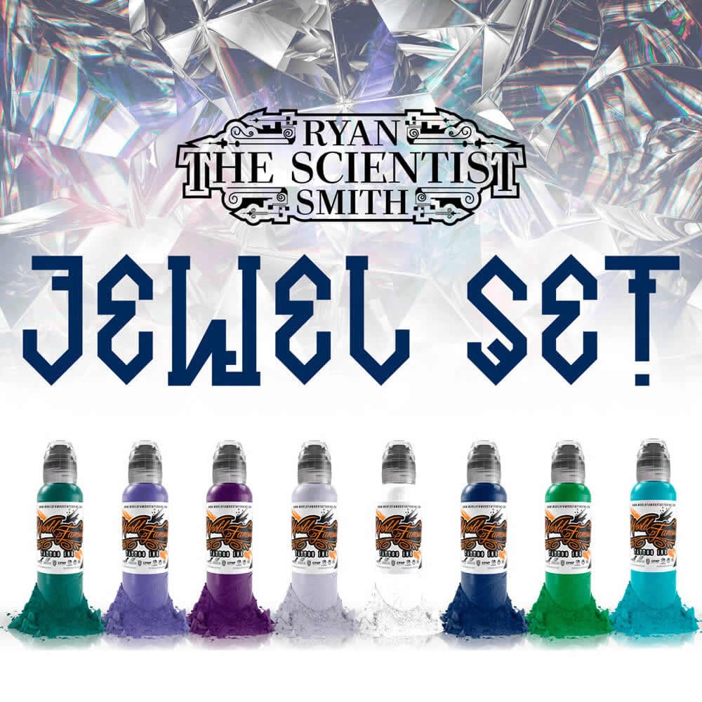 World Famous Ink 8 Color Ryan Smith Jewel Set