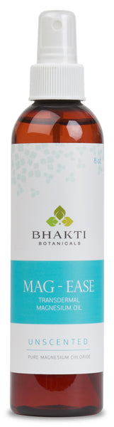 Bhakti Botanicals Mag-Ease UNSCENTED Transdermal Magnesium Oil