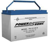 Power-Sonic 12V/110AH Sealed Lead Acid Battery w/ Type B Terminal