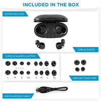 Nuheara IQbuds Boost Intelligent Wireless Earbuds Hearing Amplifiers - Bluetooth, Must Be Used with App for iOS, Android