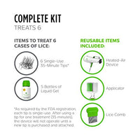 Lice Clinics of America OneCure Clinic-Proven Lice Treatment Kit (+4 Refill Tip Kits)