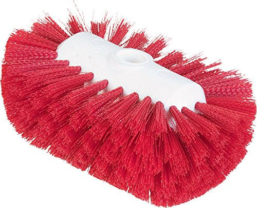 "Carlisle 4004105 Sparta Spectrum Flare Head Tank and Kettle Brush, Red Polyester Bristles, 7-1/2"" L x 5-1/2"" W (Case of 12)"