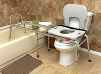 EagleHealth Toilet-to-Tub Sliding Bench 77983 XLng