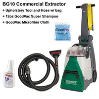 Bissell BG10 BigGreen Shampooer with Upholstery Tool and Hose, GoodVac Microfiber Cloth, 32 Ounce Shampoo
