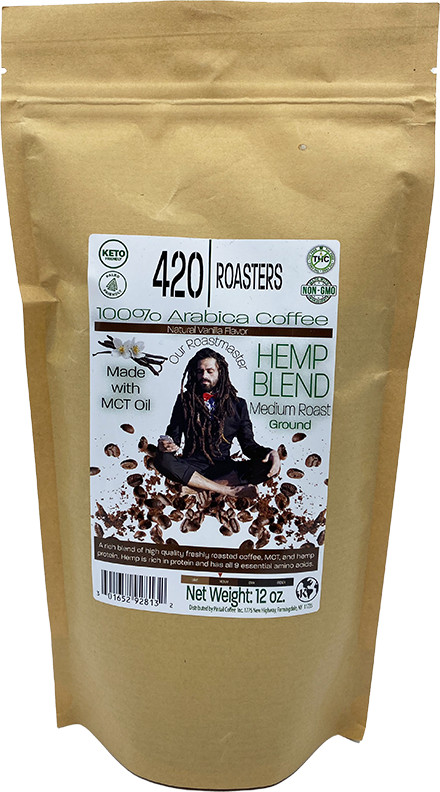 420 ROASTERS  HEMP VANILLA FLAVOR COFFEE