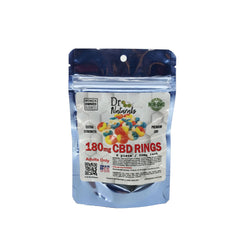 GUMMY BLUE RASPBERRY RINGS 180MG - 6PC BAG